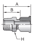 Parker 26 series male rigid pipe crimp fitting