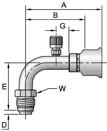 26-Series Male Tube-O - Swivel - 90° Elbow - Short Pilot