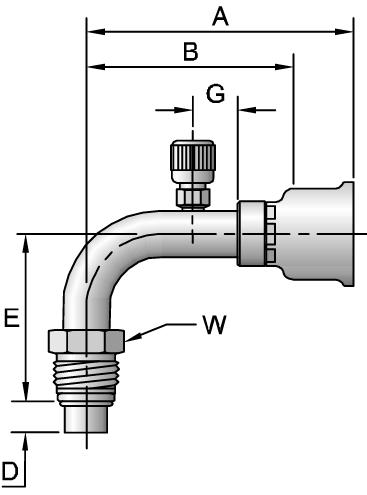26-Series Male Tube-O - Swivel - 90° Elbow - Long Pilot