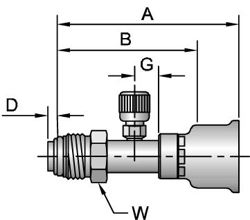 26-Series Male Tube-O - Swivel - Short Pilot