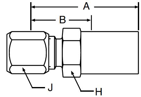 Parker 92 series 11192 hose fitting