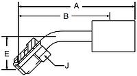 Parker 92 series 16792 hose fitting