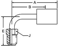 Parker 92 series 16992 hose fitting