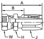 Parker BA series 206BA hose fitting