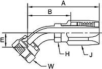 Parker BA series 237BA hose fitting