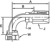 Parker BA series 239BA hose fitting