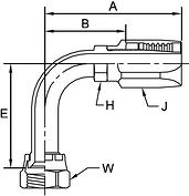 Parker BA series 241BA hose fitting