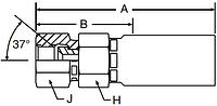 Parker LV series 106LV hose fitting