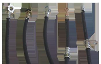 Custom stainless steel braided hose assemblies