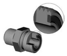 Parker ORFS fitting cutaway