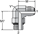 Parker C5OXO - JIC Striahgt Thread Elbow