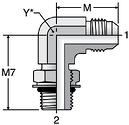 Parker C87OMX - JIC Male Elbow-ISO 6149