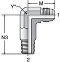 Parker CCTX - JIC Long Male Elbow