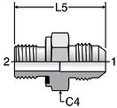Parker F42EDMX - JIC Male Connectors-BSPP