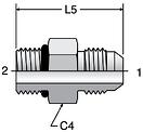Parker F5OX - JIC Straight Thread Connectors