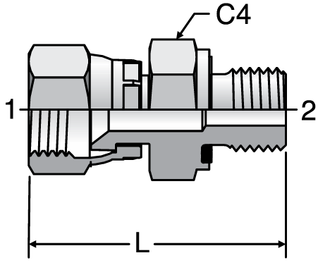 Parker F642EDMX - JIC Swivel-BSPP Connectors