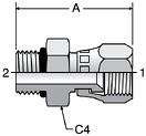 Parker F65OX - JIC Swivel Straight Thread Connectors