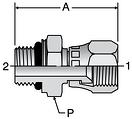 Parker F687OMX - JIC Swivel-ISO 6149 Connectors