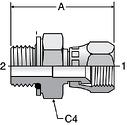 Parker F68OMX - JIC Swivel Metric ORR Connectors