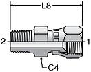 Parker F6X - JIC Swivel Connectors