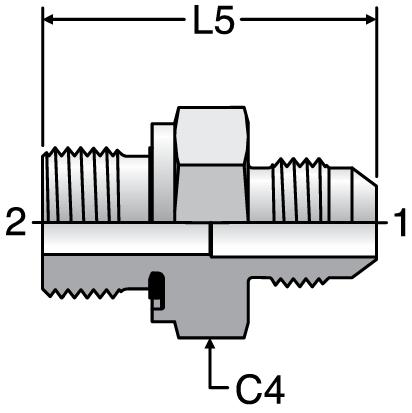 Parker F82EDMX - JIC Metric Male Connectors