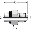 Parker F87OMX - JIC Male Connectors-ISO 6149