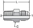 Parker FTX - JIC Male Connectors