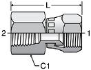 Parker G6X - JIC Swivel Nut Female Connectors