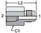 Parker GTX - JIC Female Connectors