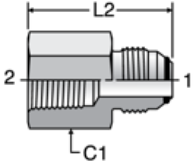 Parker GTXO - JIC Female Connector
