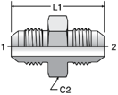 Parker LHTX - JIC Large Hex Union Straights
