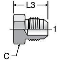 Parker PNTX - JIC Plug
