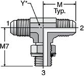 Parker S4OMX - JIC Male Branch Tee-BSPP