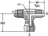Parker S6X - JIC Swivel Nut Branch Tee