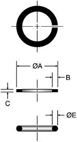 Parker SBR - JIC Braze Rings