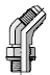 Parker BSPP-ORR 37 Degree Swivel Flare V4OMX