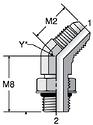 Parker V5OX - JIC 45° Straight Thread Elbow