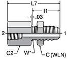Parker WGTX - JIC Female Bulkhead Connectors