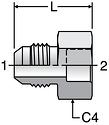 Parker XHB3 - JIC Braze Sockets