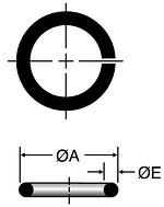 Parker SBR - ORFS Metric Silver Braze Rings