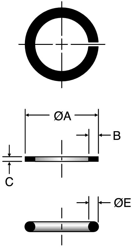 Parker SBR - ORFS Silver Braze Rings