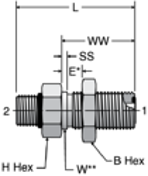 Parker WF5OLO - ORFS Straight Thread Bulkheads