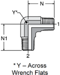 Parker Male Pipe Elbow