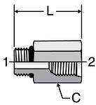 Parker Straight Thread Reducer / Expander