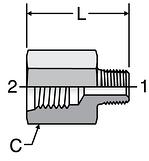 Parker Female Straight Thread Adapter