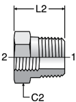 Parker Pipe Thread Reducer