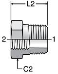 Parker BSPT Reducing Adapter
