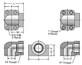 Parker GEQ NPTF Port Block Elbow Adapter