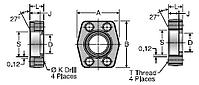 Parker W5Q Flat Weld Socket Block Connector, Pipe