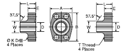 Parker WB1Q1 / WB3Q1 / WB5Q1 Code 61 Weld Block Connector, Pipe